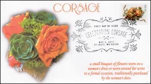 17-104, 2017, Celebration Corsage, FDC, BW Pictorial Postmark, Wedding