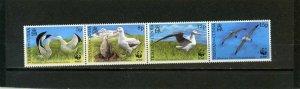 TRISTAN DA CUNHA 1999 BIRDS STRIP OF 4 STAMPS MNH