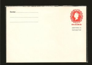 New Zealand Prestamped 25 Cent + 5 Cent QEII Envelope 1980's MNH