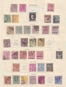 CEYLON  INTERESTING COLLECTION ON ALBUM PAGES - Y919 #2