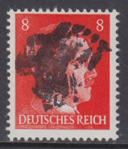 Germany Soviet Zone SBZ - LOCAL BURGSTEIN 8Pf HITLER head - Expertized Valicek