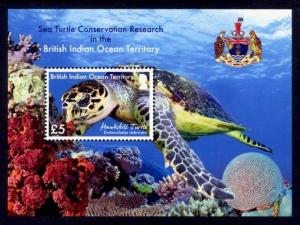 British Indian Ocean Territory Sc# 467a MNH Sea Turtle (S/S)