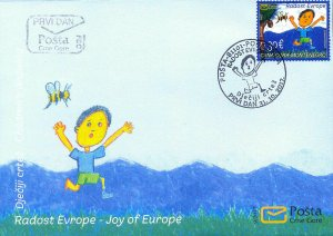 MONTENEGRO / 2017, (FDC) Joy of Europe - Children's drawing, MNH