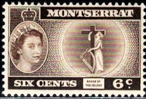 Badge of the Colony, Montserrat stamp SC#148 Mint