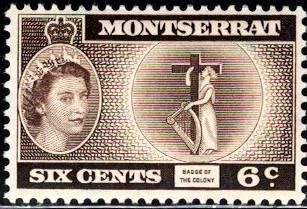 Badge of the Colony, Montserrat stamp SC#148 Mint