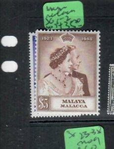 MALAYA  MALACCA    (PP1606B) KGVI SILVER WEDDING SG 1-2  MOG