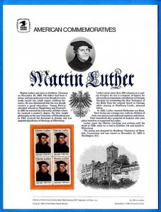 USPS COMMEMORATIVE PANEL #204 MARTIN LUTHER #2065