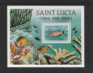 FISH - ST LUCIA #616  MNH