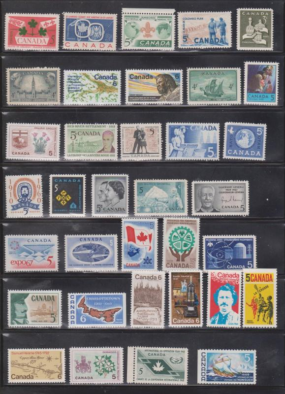 CANADA Collection Of 5 Cent Issues Most MNH A Few Hinged