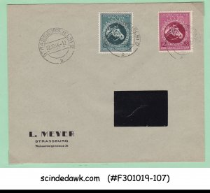 GERMANY - 1944 ENVELOPE WITH 2-HORSE STAMP - USED