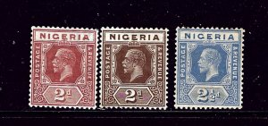 Nigeria 22-24 MLH 1927 Issues