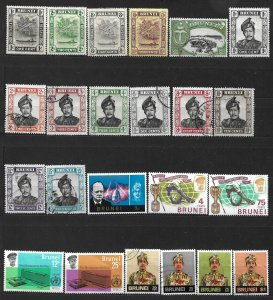 COLLECTION LOT #451 BRUNEI 23 STAMPS MH/USED 1924+ CV+ $21
