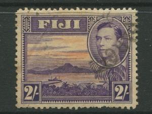 Fiji - Scott 129 - KGVI - Definitive - 1938 - Used - Single 2/- Stamp