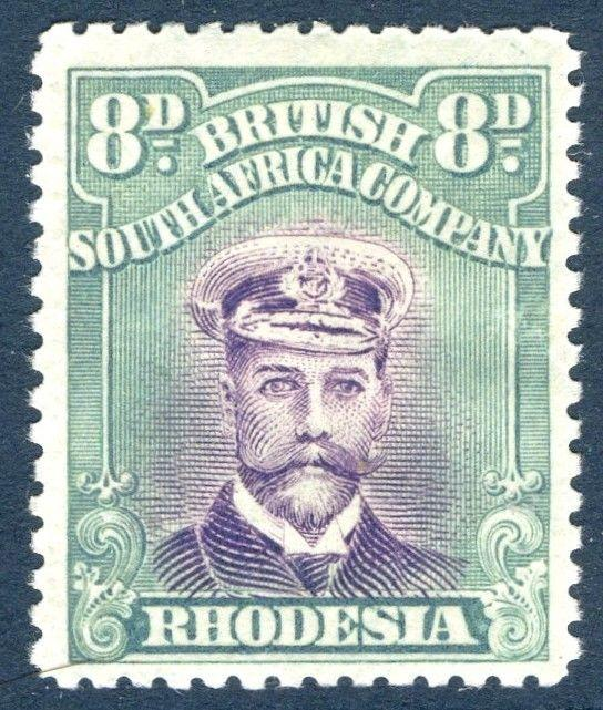 RHODESIA-1919 8d Mauve & Dull Blue-Green Sg 267  LIGHTLY MOUNTED MINT  V18578