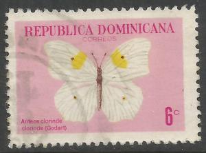 DOMINICAN REPUBLIC 625 VFU BUTTERFLY C329-3