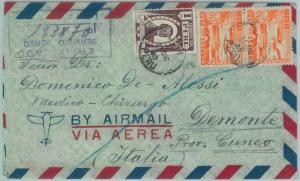 81690 - PERU - POSTAL HISTORY - Registered AIRMAIL  COVER to ITALY  1947