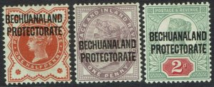 BECHUANALAND PROTECTORATE 1897 QV GB 1/2D 1D AND 2D