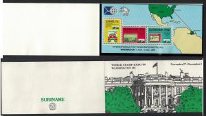 Suriname 'World Stamp Expo 89' Washington MS Exhibition Pack SG#MS1429