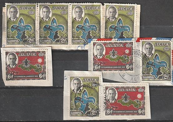 #150-51 Jamaica Used on paper