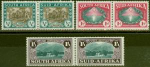 South Africa 1939 Huguenot set of 3 SG82-84 V.F Lightly Mtd MInt