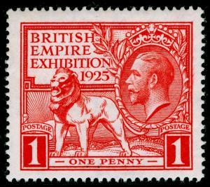 SG432, 1925 1d scarlet, NH MINT. Cat £25.