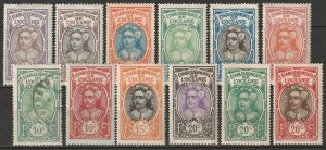 French Polynesia 1913-27 Sc 21-32 set low values most MH* some disturbed gum
