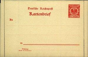 Germany 1897 Reichspost 10Pf Red Lettercard (Kartenbrief) Three Postal Cards FM