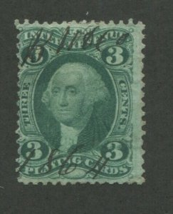 1863 United States Playing Cards Revenue Stamp #R17c Used Pen Cancel Certified