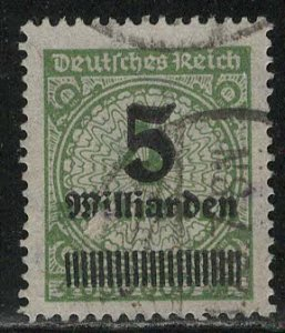 Germany Reich Scott # 312, used, exp h/s