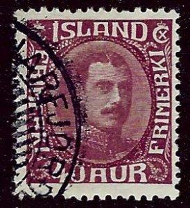 Iceland SC#184 Used F-VF SCV$21.00...Worth a Close Look!