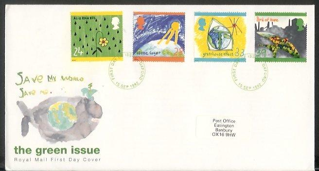 GB - 1992 Protection of the Environment (FDC)