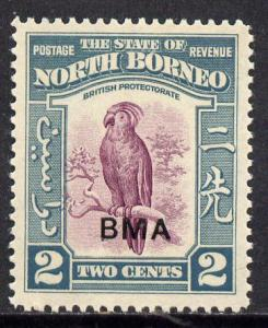 North Borneo 1945 BMA overprinted on Cockatoo 2c unmounte...