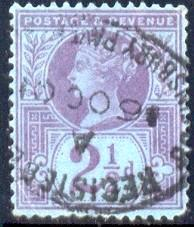 Great Britain Queen Victoria Jubilee Issue SC#114, 2.5P Used