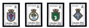 Gibraltar 501-04 MNH 1987 Royal Navy Ship Crests