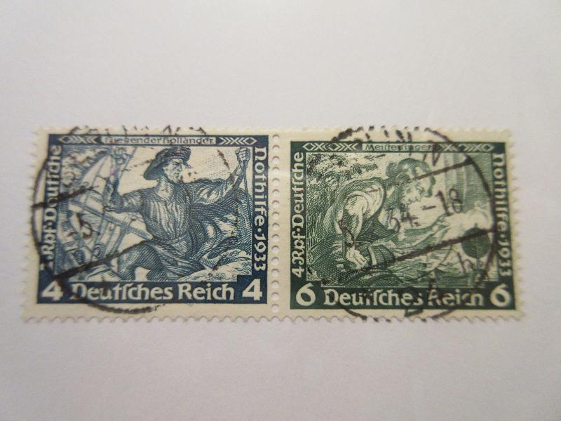 GERMANY  Zusammendrucke  Michel  W49  USED Cat 40 Euros
