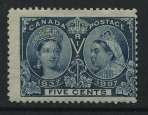 Canada 1897 5 cent Jubilee mint o.g. very off centre