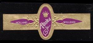 WILLEM II ROYAL CIGAR, VINTAGE PRE OWNED CIGAR BAND TOBACCO CINDERELLA