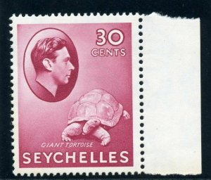 Seychelles 1938 KGVI 30c carmine (CH) superb MNH. SG 142. Sc 138.