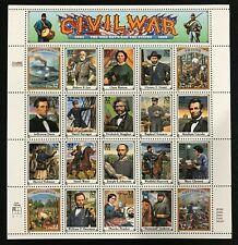 SCOTT # 2975 CIVIL WAR SHEET MINT NEVER HINGED GEMS !!