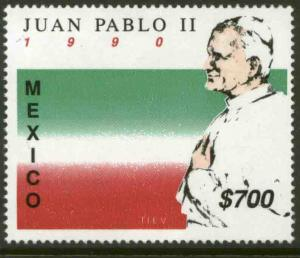 MEXICO 1648 Visit of Pope John Paul II MNH