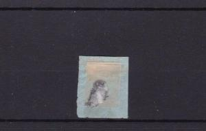 FRANCE 1c GREEN  1853 CAT £120 USED STAMP  R3608
