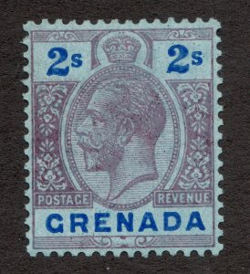 Sc 108 - Grenada - 1922 - 2s - Edward VII -  MH  VF -  superfleas - cv$7