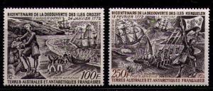 FRENCH SOUTHERN ANTARCTIC TERR SC#C26-27 MNH FVF Crozet Isl