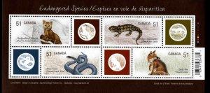 Canada Scott 2173  MNH**  Endangered Species souvenir sheet.