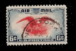 US Air Mail 1928 Sc#  C 23  Eagle USED  - New York - Dated Cancel