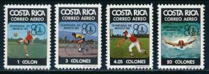 Costa Rica  - Moscow Olympic Games Sports Set MNH (1980)