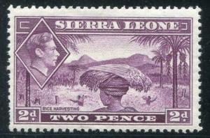 HERRICKSTAMP SIERRA LEONE Sc.# 176 Scarce KG VI Mint LH