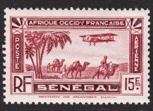 Senegal Scott C11 F to VF mint OG NH.