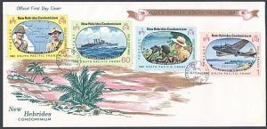 NEW HEBRIDES 1967 Pacific War Anniv FDC - VILA pmk.........................55035