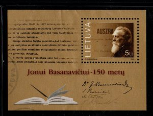 Lithuania Sc 709 2001 Dr Jonas Basanvicius stamp sheet used